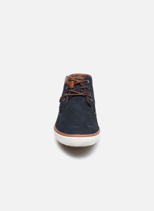 Sneaker Faguo BASKET WATTLE LEATHER blau schuhe getragen