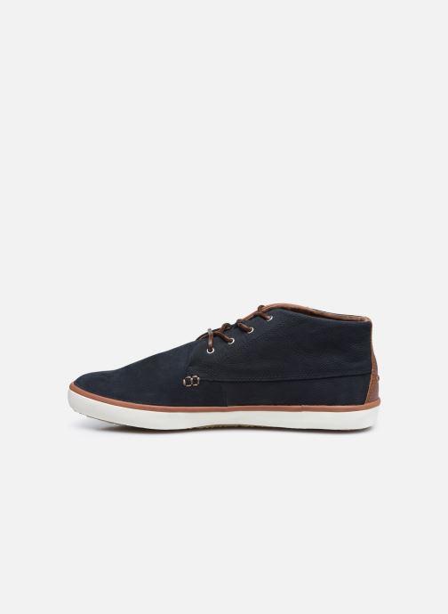 Sneaker Faguo BASKET WATTLE LEATHER blau ansicht von vorne
