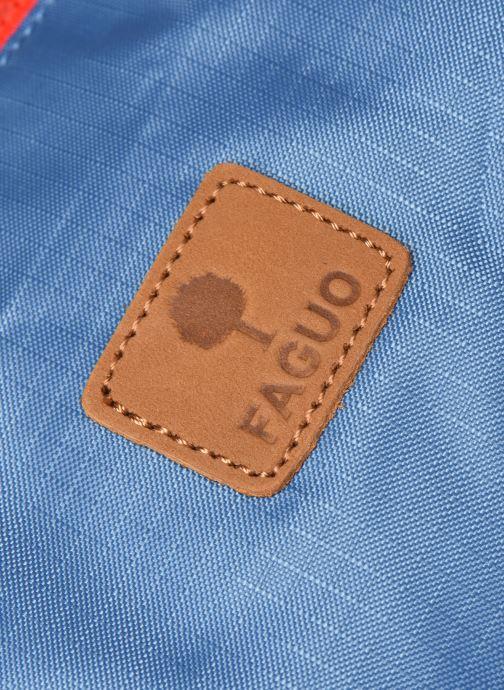 Sporttaschen Faguo DUFFLE BAGAGERIE SYNTHETIC WOV blau ansicht von links