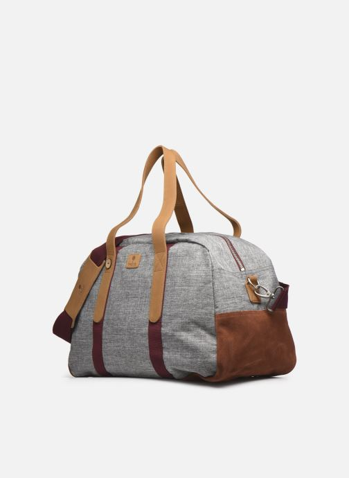 Bagages Faguo BAG48 BAGAGERIE SYNTHETIC WOVE Gris vue portées chaussures
