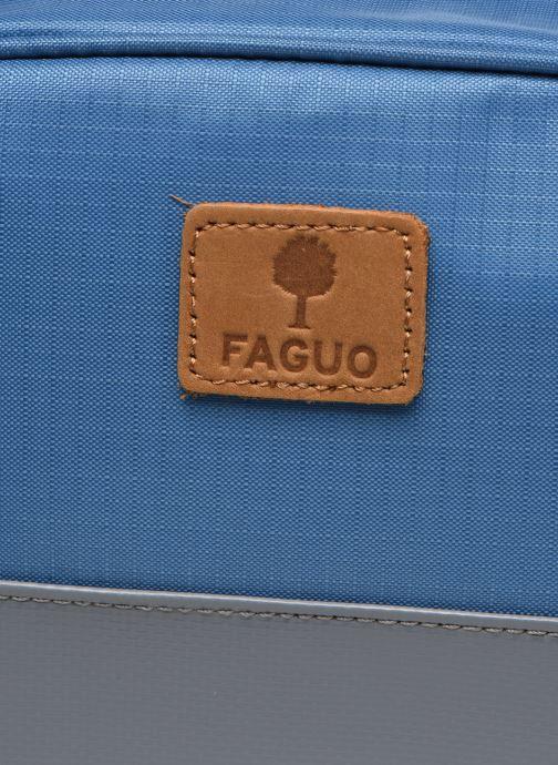 Marroquinería pequeña Faguo WASHBAG PETIT ACCESSOIRE SYNTH Azul vista lateral izquierda