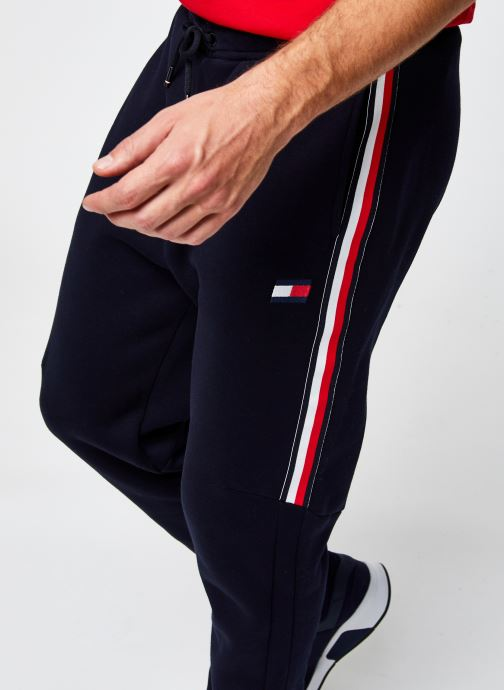 Vêtements Tommy Sport Cuffed Fleece Pant Tapered Leg Bleu vue face