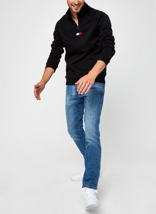 Kleding Tommy Sport 1/2 Zip Fleece Mid Layer Zwart onder