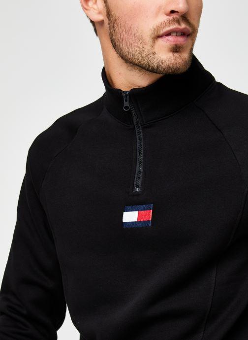 Kleding Tommy Sport 1/2 Zip Fleece Mid Layer Zwart voorkant