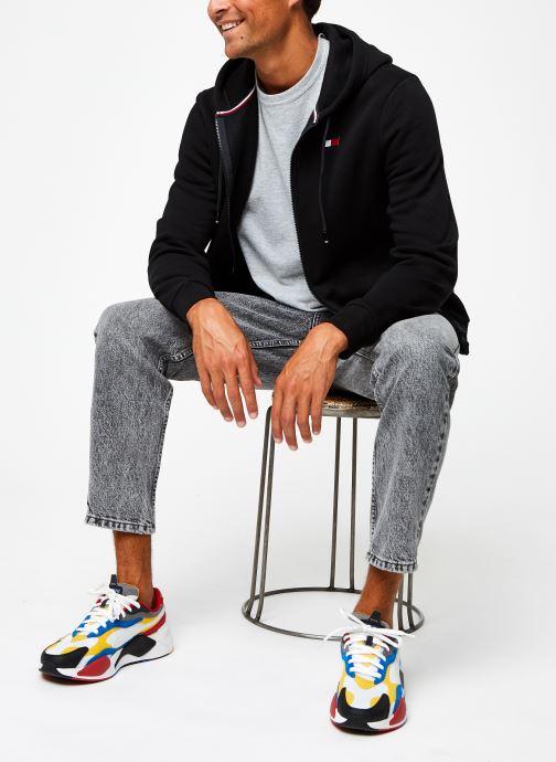 Vêtements Tommy Sport Fleece Fz Hoody Noir vue bas / vue portée sac