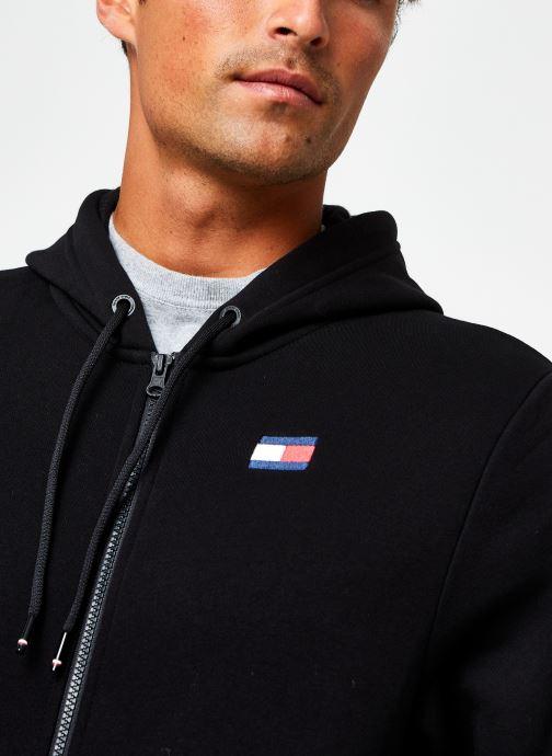 Vêtements Tommy Sport Fleece Fz Hoody Noir vue face