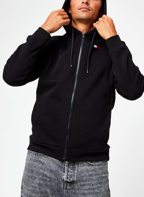 Vêtements Tommy Sport Fleece Fz Hoody Noir vue droite
