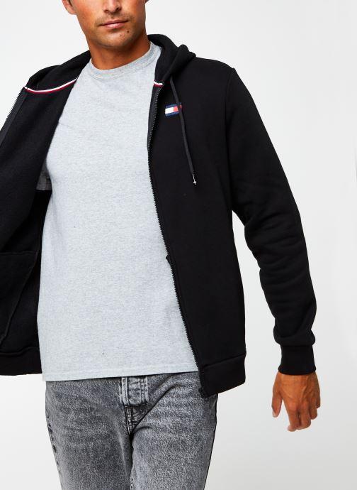 Vêtements Tommy Sport Fleece Fz Hoody Noir vue détail/paire