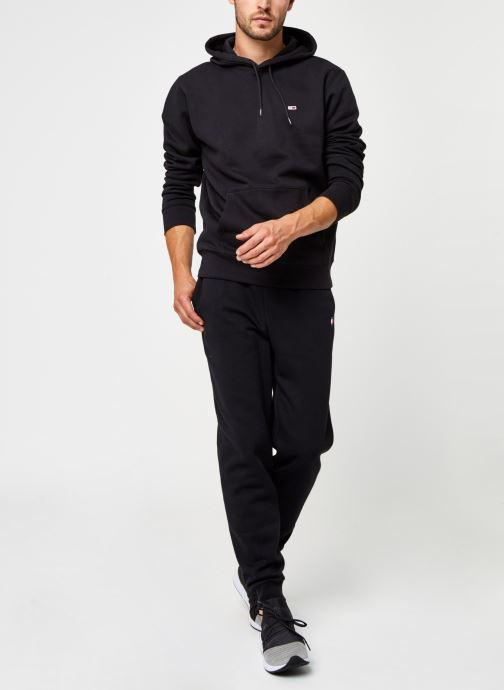 Vêtements Tommy Sport Cuffed Regular Fleece Pant Noir vue bas / vue portée sac