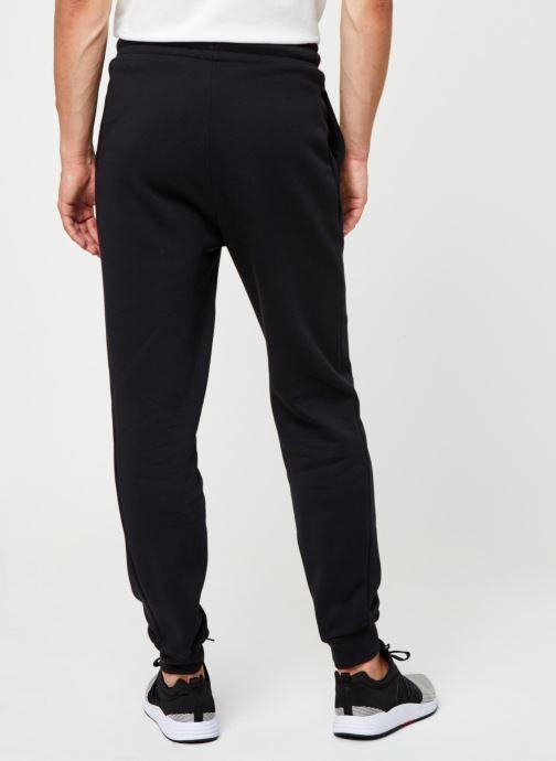 Vêtements Tommy Sport Cuffed Regular Fleece Pant Noir vue portées chaussures