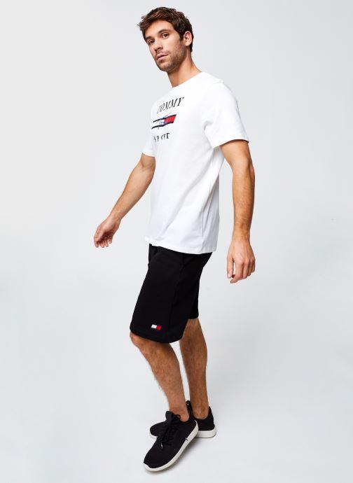 Vêtements Tommy Sport Fleece Short Noir vue bas / vue portée sac