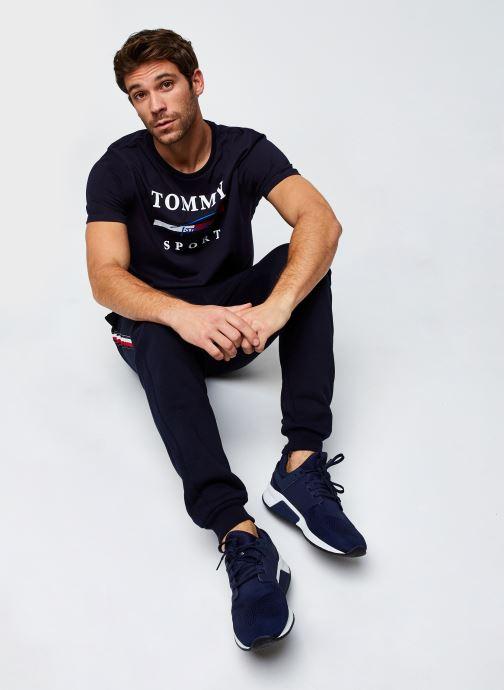 Vêtements Tommy Sport Graphic Tee Bleu vue bas / vue portée sac