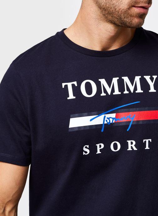 Vêtements Tommy Sport Graphic Tee Bleu vue face