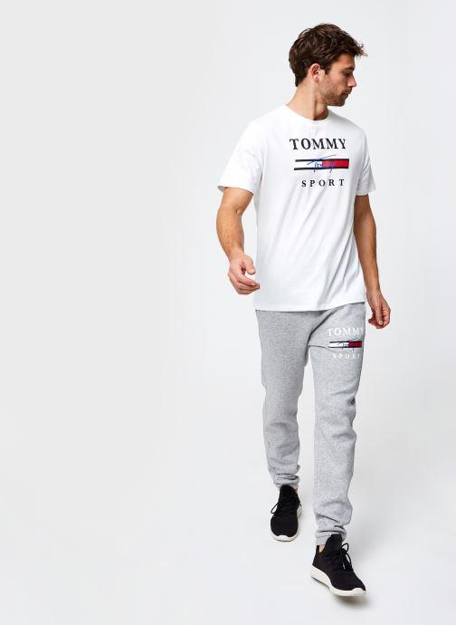 Vêtements Tommy Sport Graphic Fleece Pant Cuffed Gris vue bas / vue portée sac