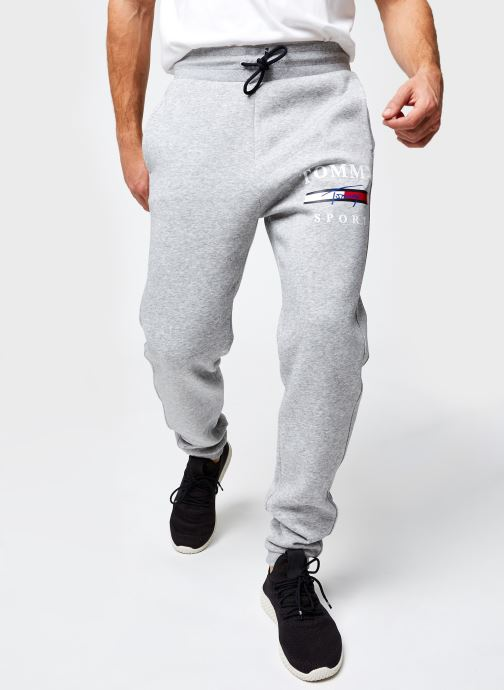 Vêtements Tommy Sport Graphic Fleece Pant Cuffed Gris vue détail/paire