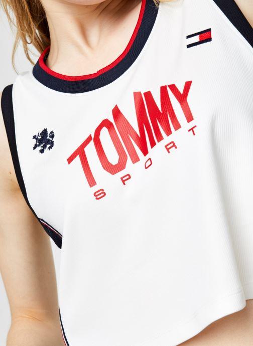 Vêtements Tommy Sport Crop Tommy Tank Top Blanc vue face