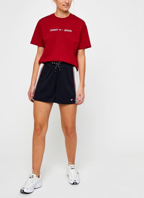 Vêtements Tommy Sport Highwaisted Short Bleu vue bas / vue portée sac