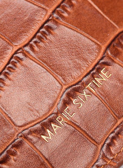 Petite Maroquinerie Marie Sixtine Havana Marron vue gauche