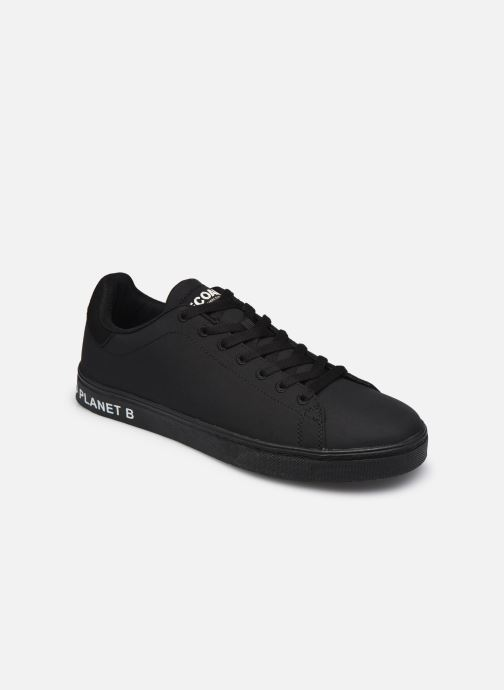 Deportivas ECOALF Sandford Basic Sneakers Man Negro vista de detalle / par