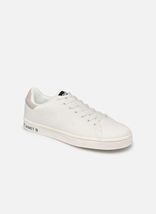Deportivas ECOALF Sandford Basic Sneakers Man Blanco vista de detalle / par
