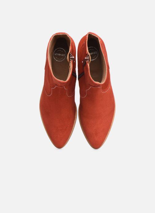 Bottines et boots Made by SARENZA Sartorial Folk Boots #7 Rouge vue portées chaussures