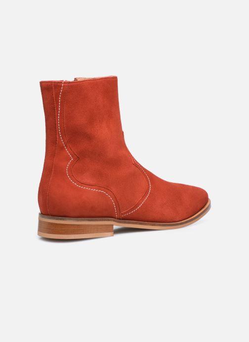 Bottines et boots Made by SARENZA Sartorial Folk Boots #7 Rouge vue face