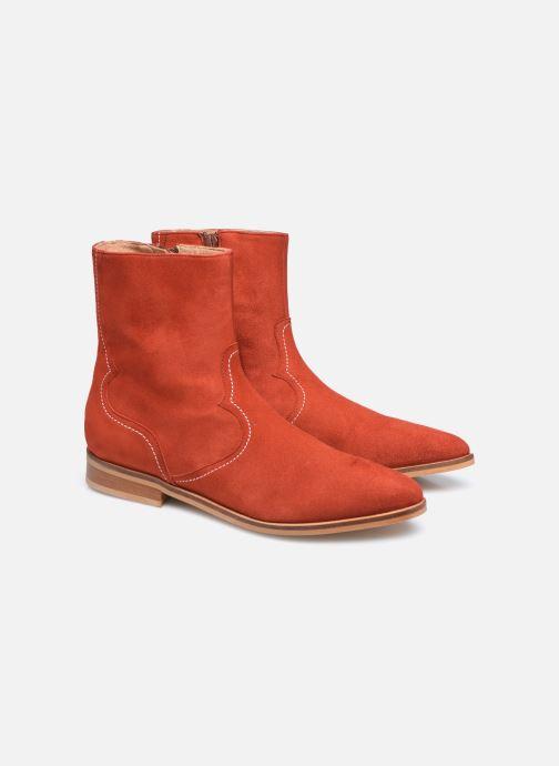 Bottines et boots Made by SARENZA Sartorial Folk Boots #7 Rouge vue derrière