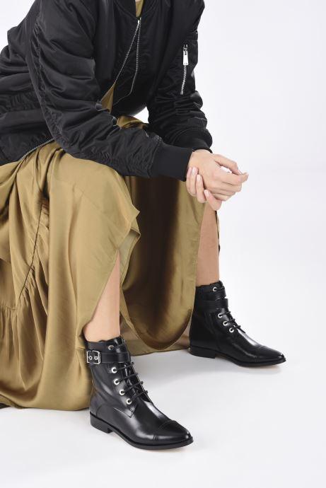 Bottines et boots Made by SARENZA Electric Feminity Boots #3 Noir vue bas / vue portée sac