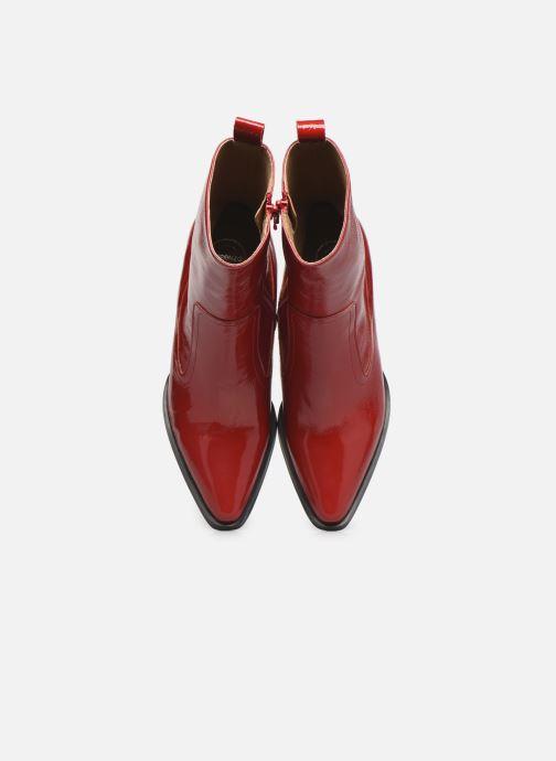 Stivaletti e tronchetti Made by SARENZA Electric Feminity Boots #4 Rosso modello indossato