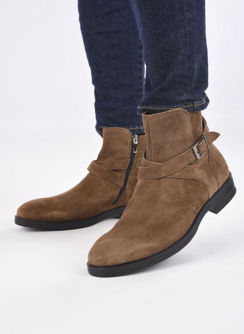 Bottines et boots Mr SARENZA Noural Marron vue bas / vue portée sac