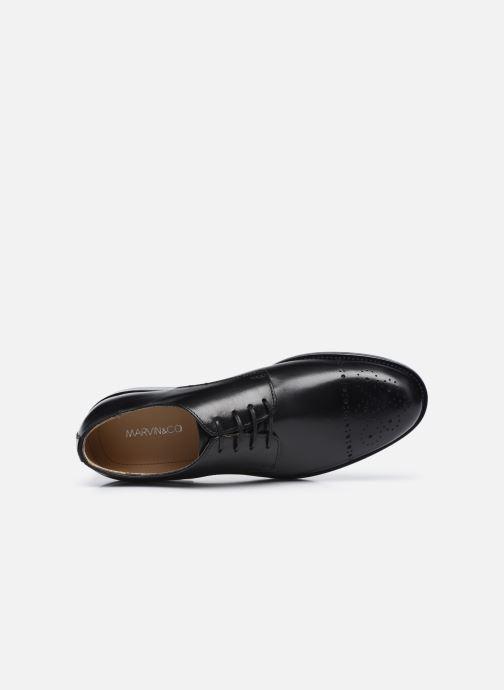 Chaussures à lacets Marvin&Co Niceto Noir vue gauche