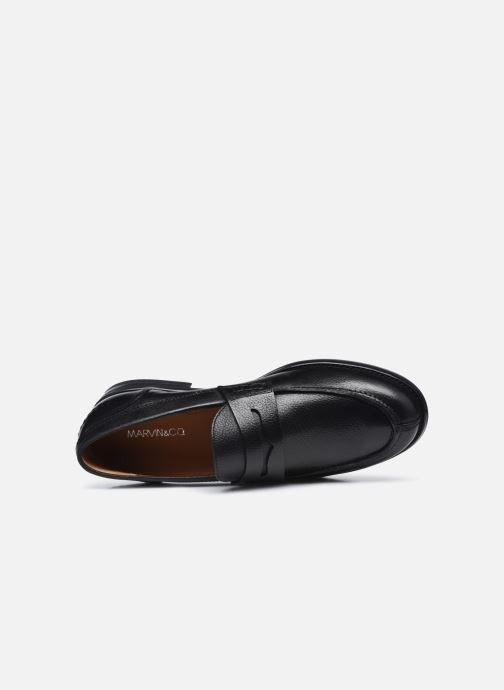 Mocasines Marvin&Co Newera Negro vista lateral izquierda
