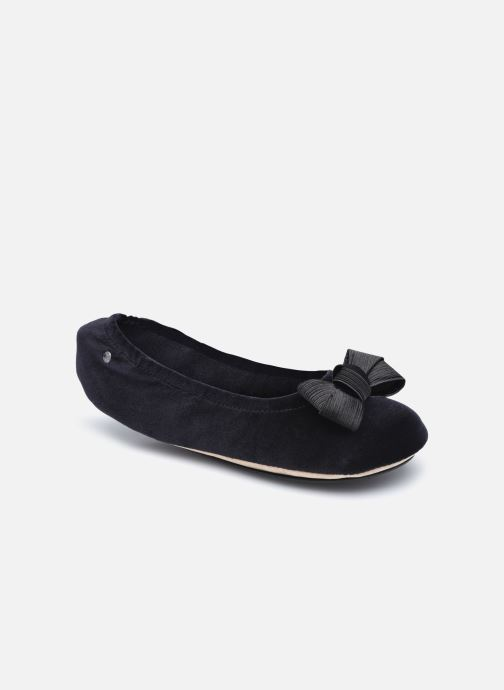 Chaussons Femme Ballerine Velours - Grand Nœud Satin