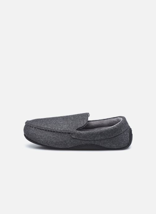 Pantofole Isotoner Mocassin Feutre Grigio immagine frontale