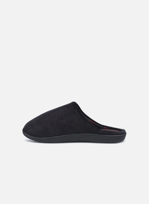 Pantuflas Isotoner Mule Velours - Semelle Ergonomique Negro vista de frente