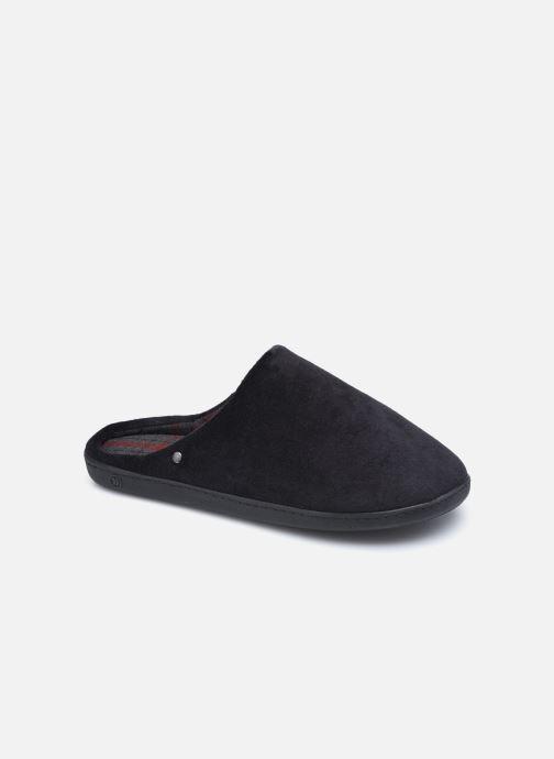 Pantuflas Isotoner Mule Velours - Semelle Ergonomique Negro vista de detalle / par