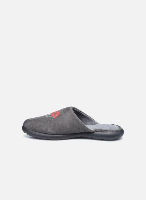 Pantofole Isotoner Mule Ergonomique EverWear - Badges Grigio immagine frontale