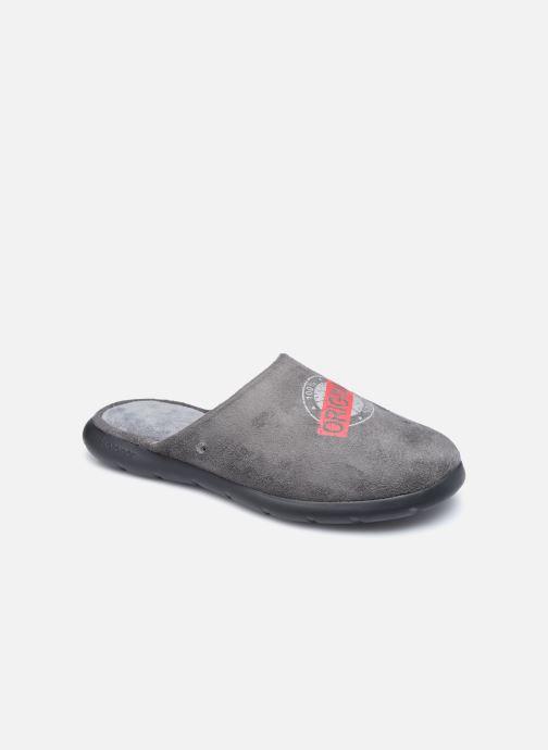 Pantofole Isotoner Mule Ergonomique EverWear - Badges Grigio vedi dettaglio/paio