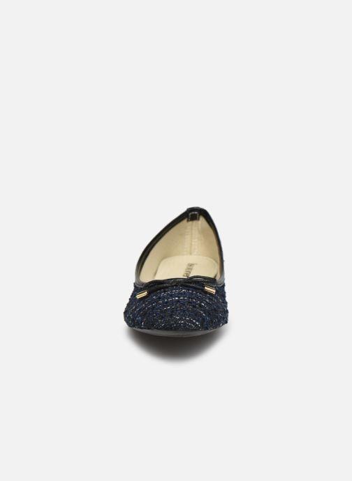 Ballerines Isotoner Ballerine Tweed Beige vue portées chaussures