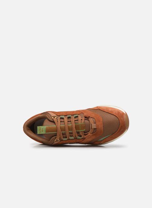 Sneaker Kickers KOOLFLEX braun ansicht von links