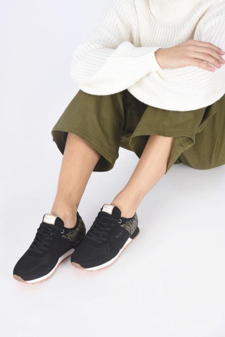 Sneaker Pepe jeans Verona W Cascade schwarz ansicht von unten / tasche getragen