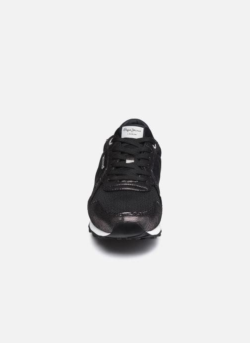 Sneaker Pepe jeans Verona W Top schwarz schuhe getragen