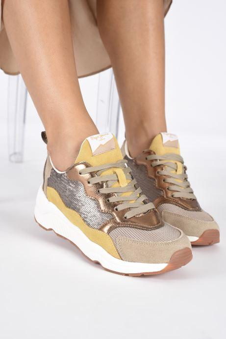 Sneakers Pepe jeans Harlow Sequins Goud en brons onder