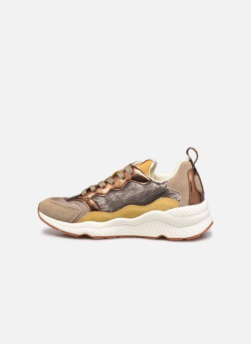 Sneakers Pepe jeans Harlow Sequins Goud en brons voorkant
