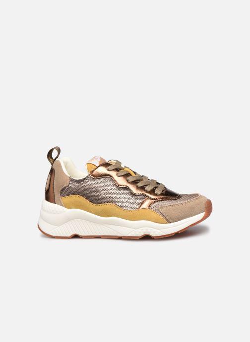 Sneakers Pepe jeans Harlow Sequins Goud en brons achterkant