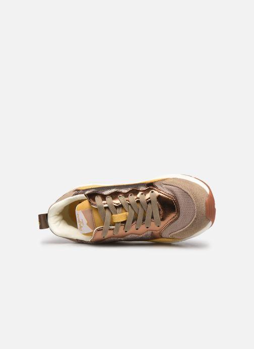 Deportivas Pepe jeans Harlow Sequins Oro y bronce vista lateral izquierda