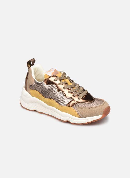 Sneakers Pepe jeans Harlow Sequins Goud en brons detail