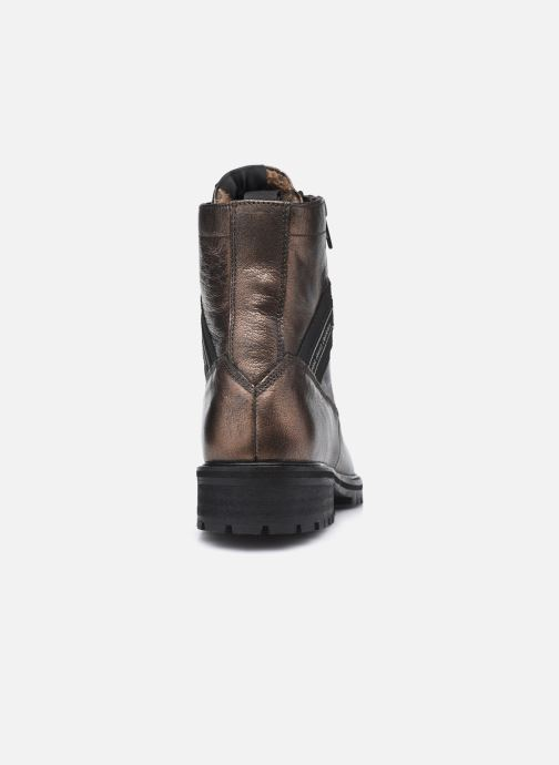 Bottines et boots Pepe jeans Melting Tape Woman Gold Marron vue droite