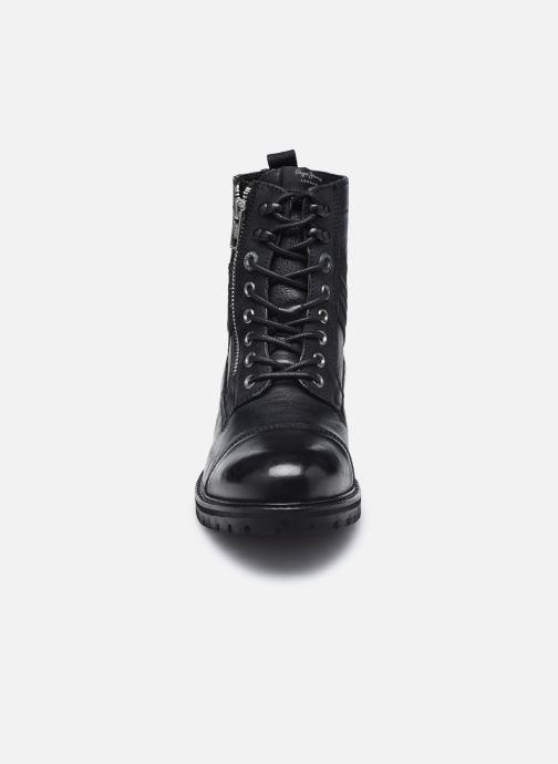 Stiefeletten & Boots Pepe jeans Melting Tape Woman Nb schwarz schuhe getragen