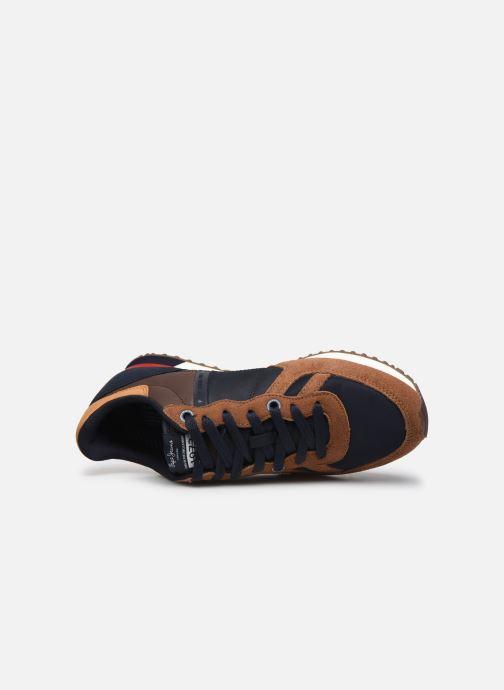 Sneaker Pepe jeans Tinker Zero Second braun ansicht von links